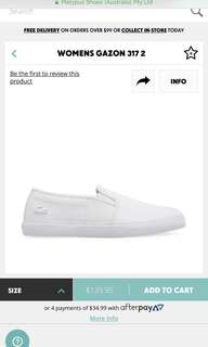 Lacoste slip ons