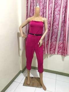 Size M Jumpsuit Tube Pink
