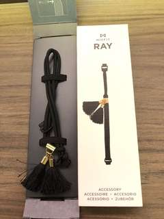 Misfit Ray Paracord Band with tassel (black)