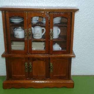 Wooden Miniature Display Cabinet