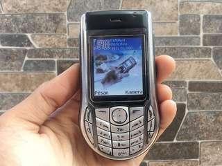 Nokia 6630 Silver Black Normal Hp Jadul Klasik Handphone Nostalgia