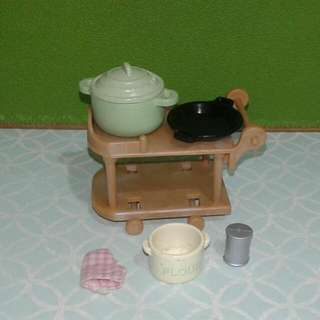 Sylvanian Families Kitchen Trolley Set