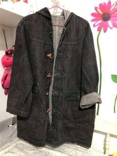 🚚 復古黑色oversize 牛仔外套 #一百元好物