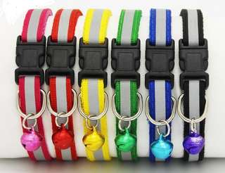 Adjustable Reflective Pet Collar with Bell