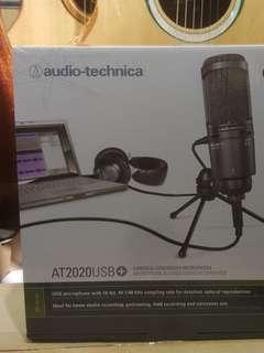 100%New AUDIO TECHNICA AT2020USB+  audio technica at2020 usb+ 電容咪 錄音咪 人聲咪 condenser microphone mic microphone
