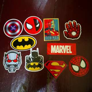 Marvel DC Super Hero Stickers 10 pcs 1 set(Water Resistant)
