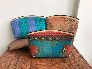 Coins Pouch dompet make up handphone batik