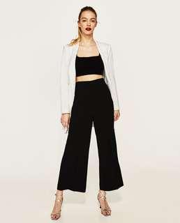 NWOT Zara crepe culottes