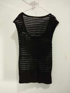 Stripe BlackTransparan / FREEONGKIR JABODETABEK