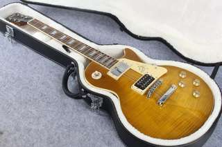 Jimmy Page Signature Ice Tea Flame Gibson Les Paul Custom Electric Guitar Replica