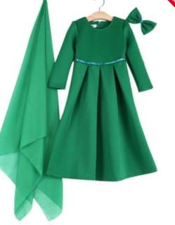 Round Collar Long Sleeve Dress