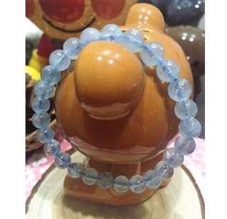 💝出清回饋價~天然✨冰透海藍寶手珠 7mm