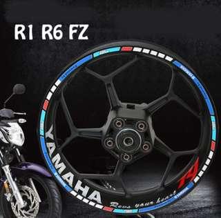 Yamaha Reflective Rim Sticker