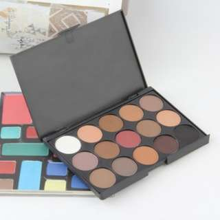 (76)Professional 15 Colors Warm Nude Matte Shimmer Eyeshadow Palette Cosmetic