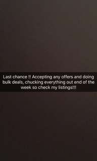 ACCEPTING ANY OFFER