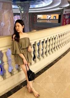 韓國女神雪紡連身褲