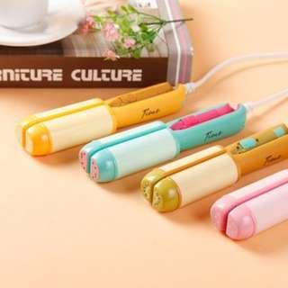 (77)Creative Korea Cute Fruit Mini Electric Hair Straightener and Curling Irons
