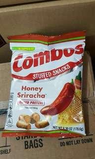 Combos Stuffed Snacks Honey Sriracha Baked Pretzel