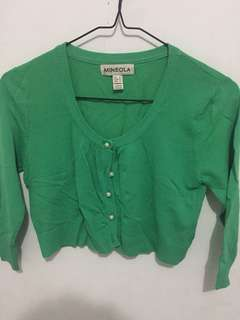 Sweater hijau crop top