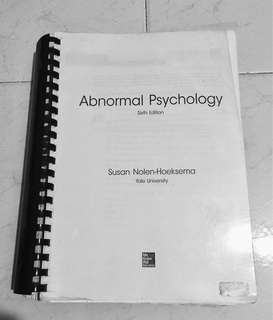 HP2700 Abnormal Psychology Textbook (6th edition)