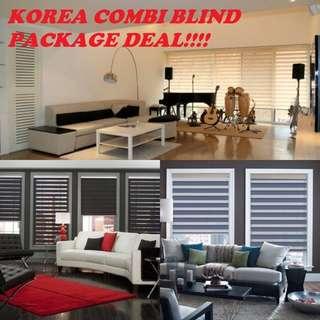 Korea Combi Blinds 3 room fr $599 / 4 room fr $749 / 5 room fr $899