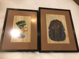 Egyptian Prints on Papyrus