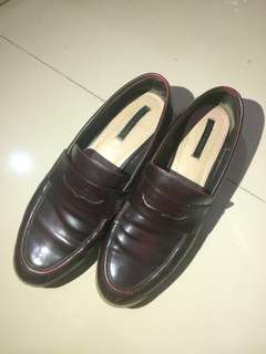 Zara loafers red cherry