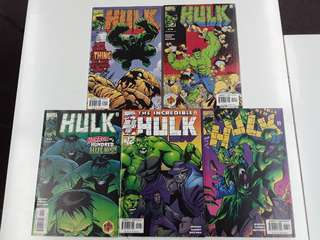 Incredible Hulk (1999 2nd Series) Thing vs Hulk Comics Set
