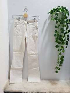 2nd celana panjang putih jeans