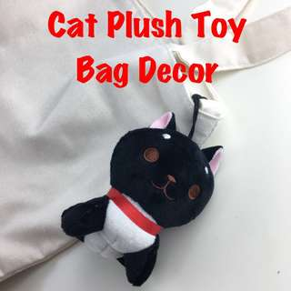 Cat Plush Toy Bag Decoration Ornament Soft Toy Plushie