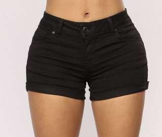 Fashion Nova Black Shorts *BRAND NEW* size S