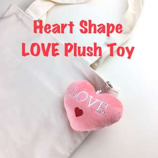 Heart Shape LOVE Plush Toy Plushie Bag Decor Ornament