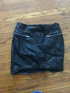 H&M pleather skirt size 8