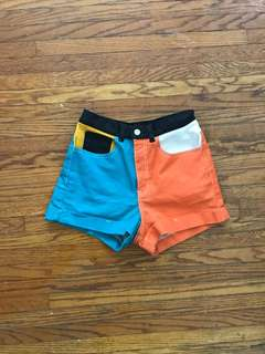American apparel colorblock shorts 26/27