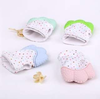 [Ready Stock] Baby Silicon Teething | Teether Mittens | Glove 1Pcs