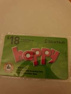 STARHUB prepaid top up card