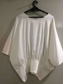 Trulyme.co Amber Pleats Top White