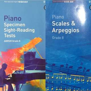 ABRSM 2 for HKD50. Grade 8. Scale and Sight reading
