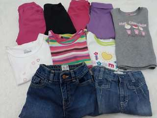 Bundle clothes for baby girl (2 yrs old)