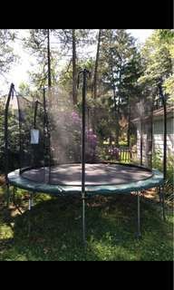 12' Skywalker Trampoline with enclosure