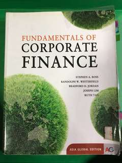 Fundamentals Of Corporate Finance Asia global edition