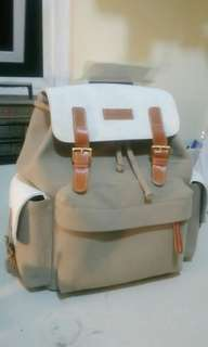 (Nego) Suede Leather Backpack by Donnadonnie