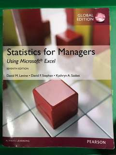 Statistics for managers seventh edition global edition