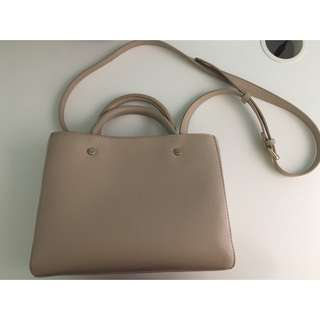 Taupe Side Bag