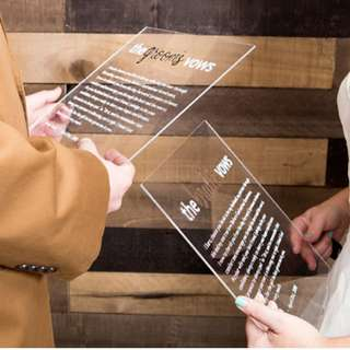 Customise Personalise Wedding Vows Card/Board