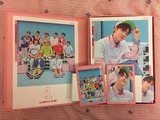 [WTB] WANNA ONE TO BE ONE PINK VER ALBUM MINHYUN & JAEHWAN COVER CARD + SLEEVE + PHOTOCARD