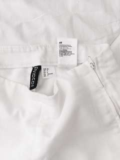 H&M high waisted white pants
