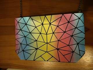 🚚 幾何不對稱圖形肩背手拿包