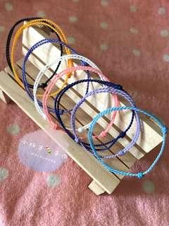 小玩子🍡 簡約拉繩款 巴西蠟線 手環 腳環 ✨可客製✨超簡約拉繩款❤️