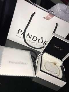 Sterling Silver w/ PANDORA Rose Heart Clasp Bracelet